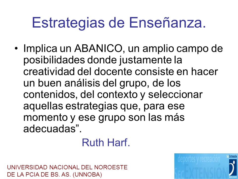 Estrategias de Enseñanza.