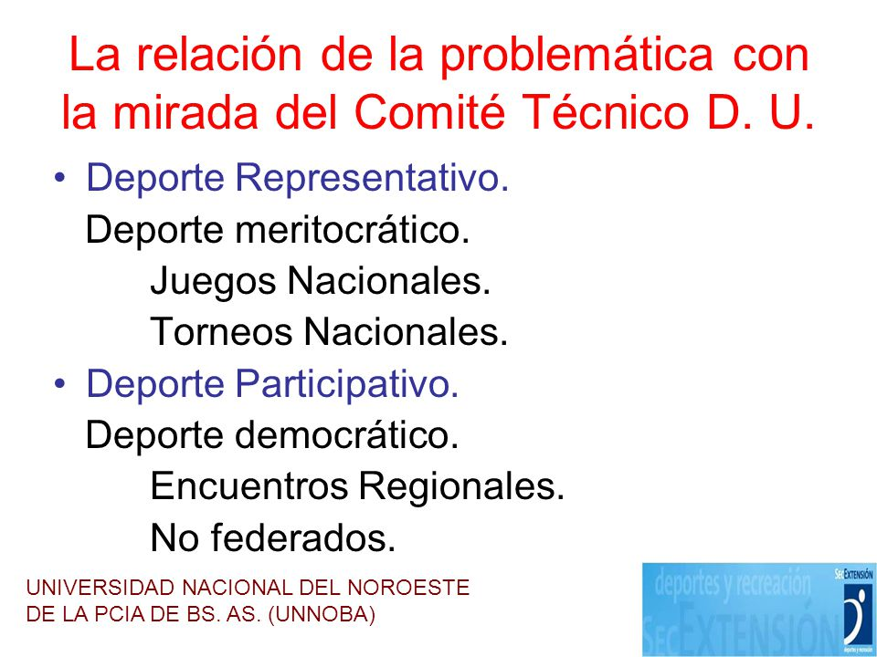 La relación de la problemática con la mirada del Comité Técnico D. U.