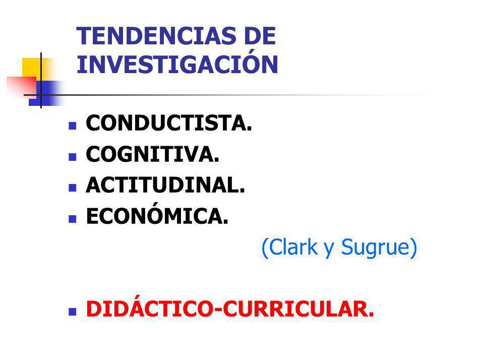 TENDENCIAS DE INVESTIGACIÓN
