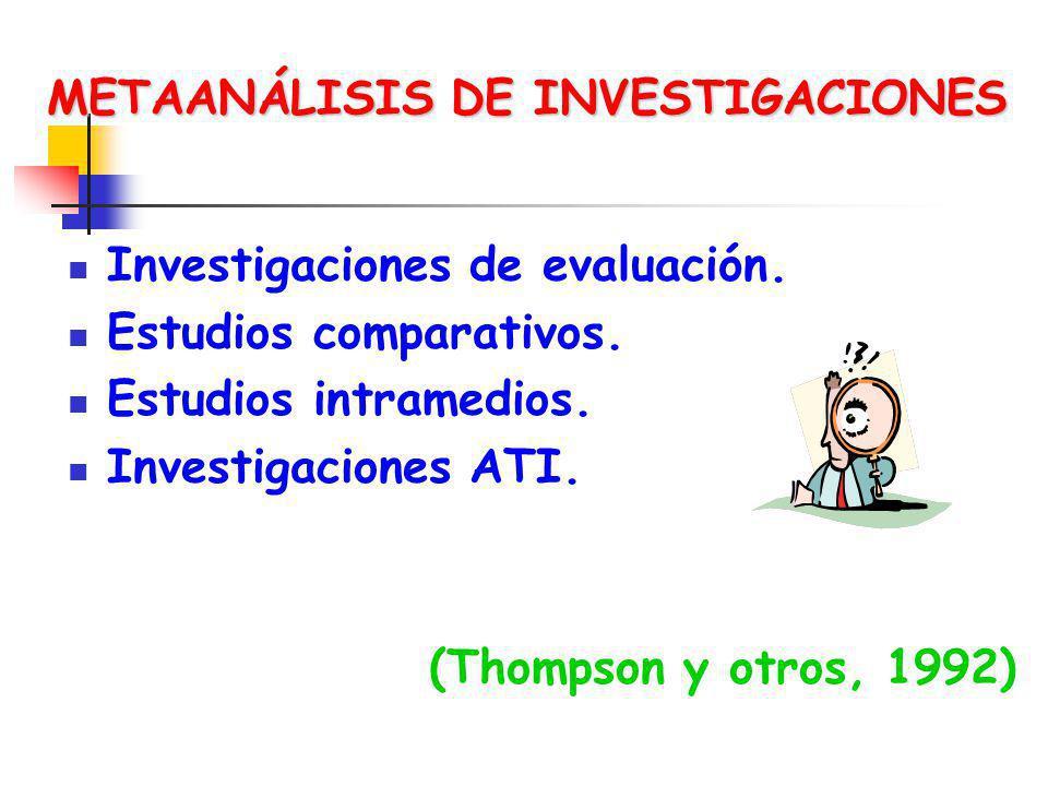 METAANÁLISIS DE INVESTIGACIONES