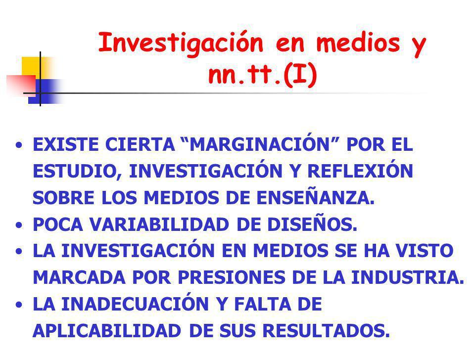 Investigación en medios y nn.tt.(I)