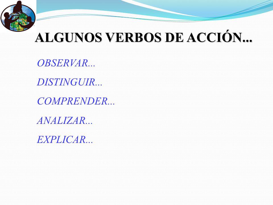 ALGUNOS VERBOS DE ACCIÓN...