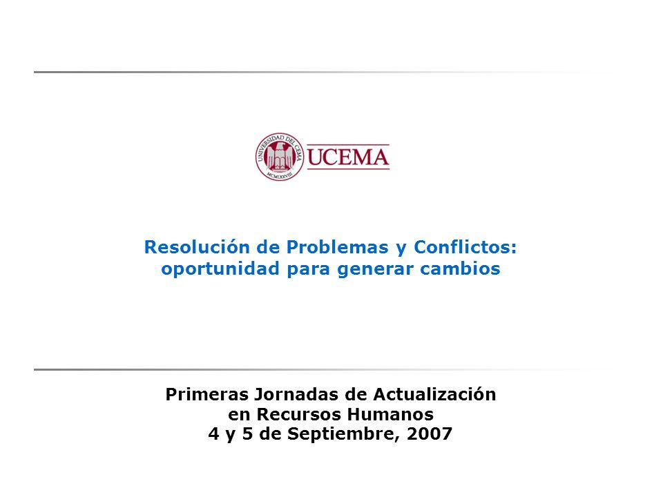 Resolución de Problemas y Conflictos: oportunidad para generar cambios