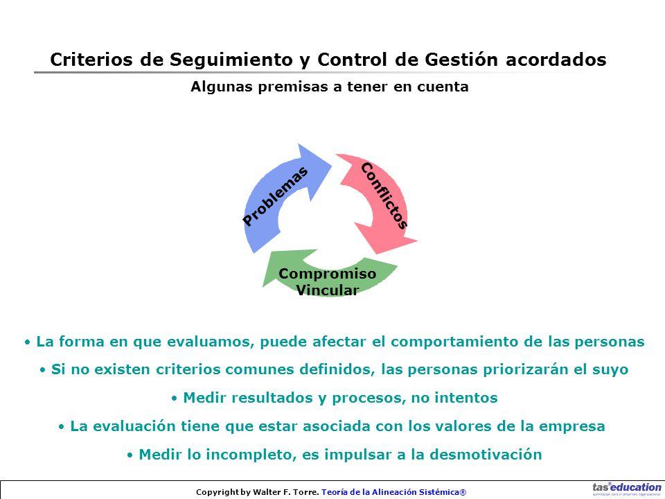 Criterios de Seguimiento y Control de Gestión acordados