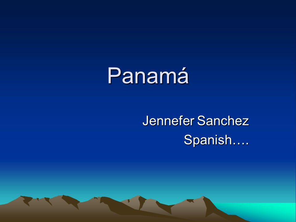 Jennefer Sanchez Spanish….
