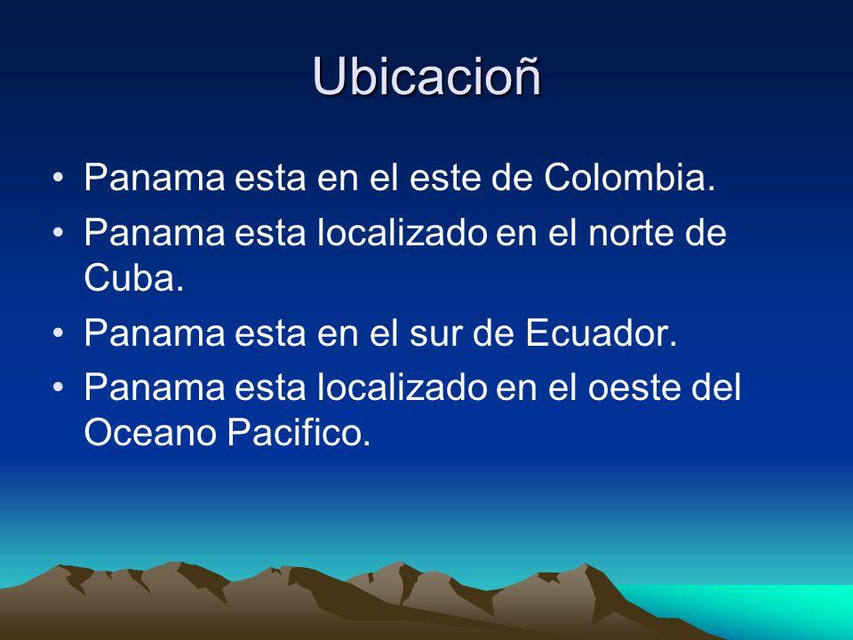 Ubicacioñ Panama esta en el este de Colombia.