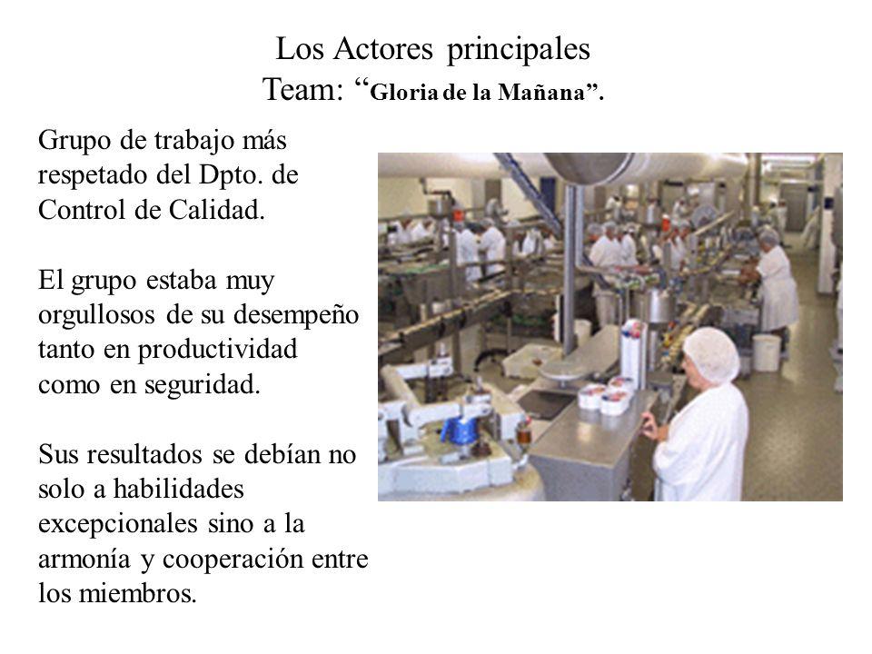 Los Actores principales Team: Gloria de la Mañana .