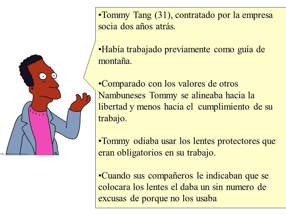 Tommy Tang (31), contratado por la empresa socia dos años atrás.
