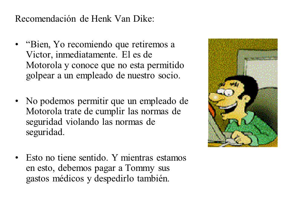 Recomendación de Henk Van Dike: