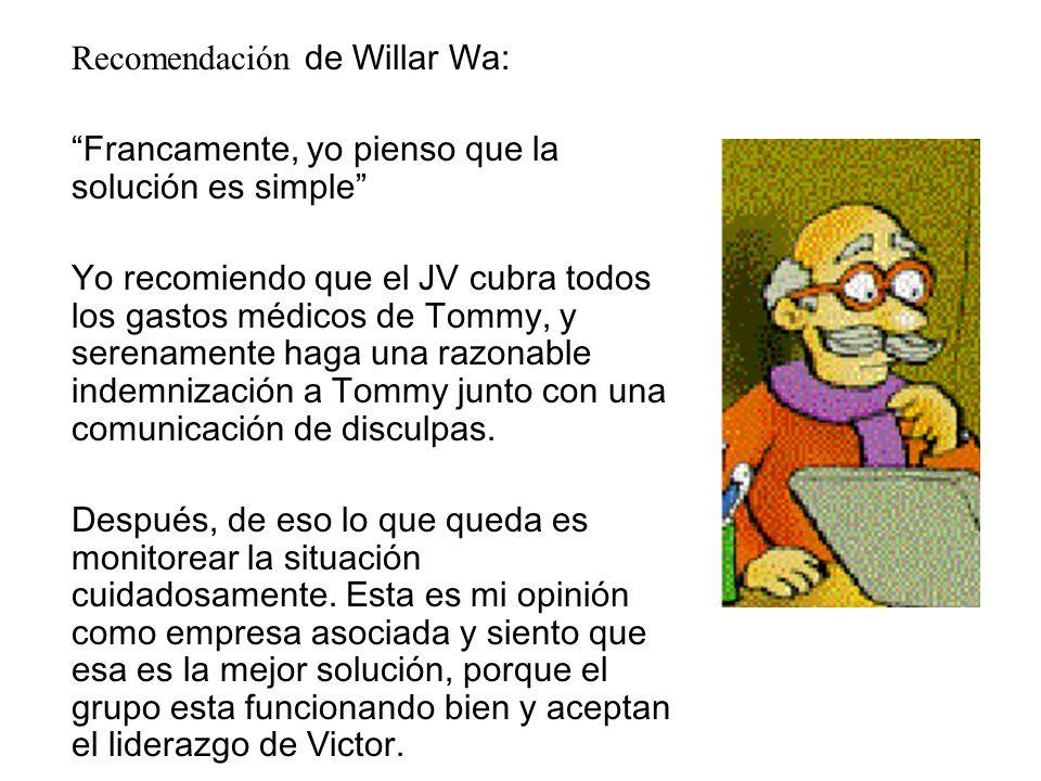 Recomendación de Willar Wa: