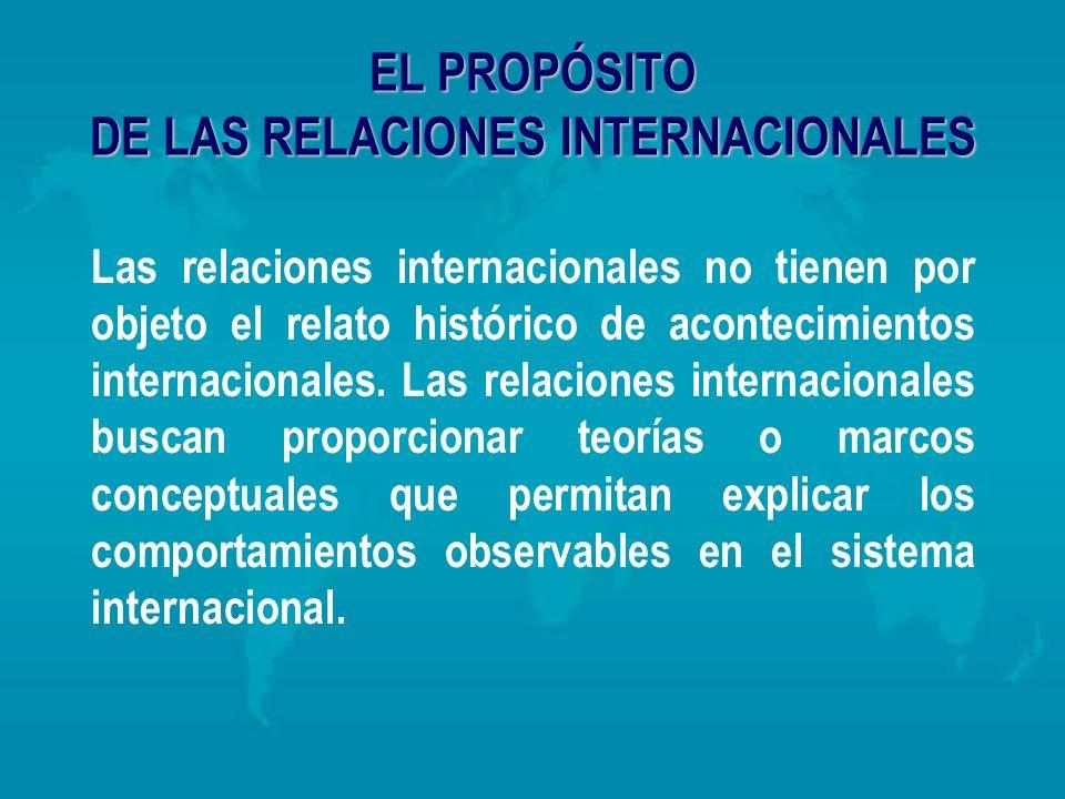 EL PROPÓSITO DE LAS RELACIONES INTERNACIONALES
