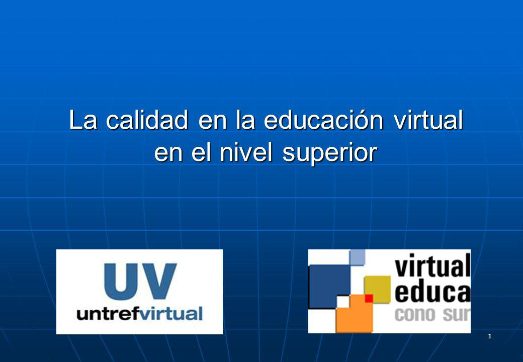 La calidad en la educación virtual en el nivel superior
