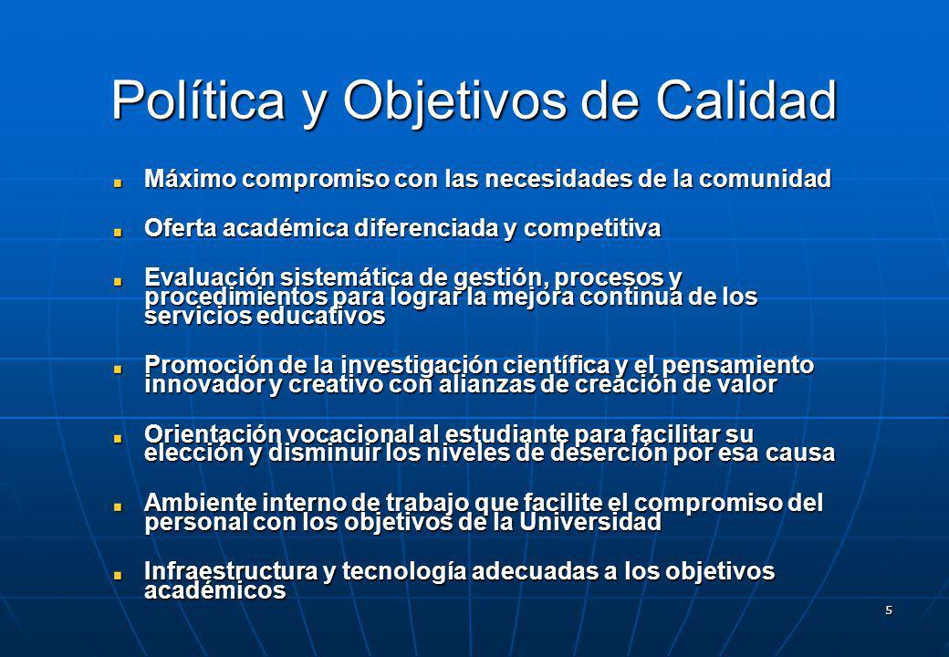 Política y Objetivos de Calidad