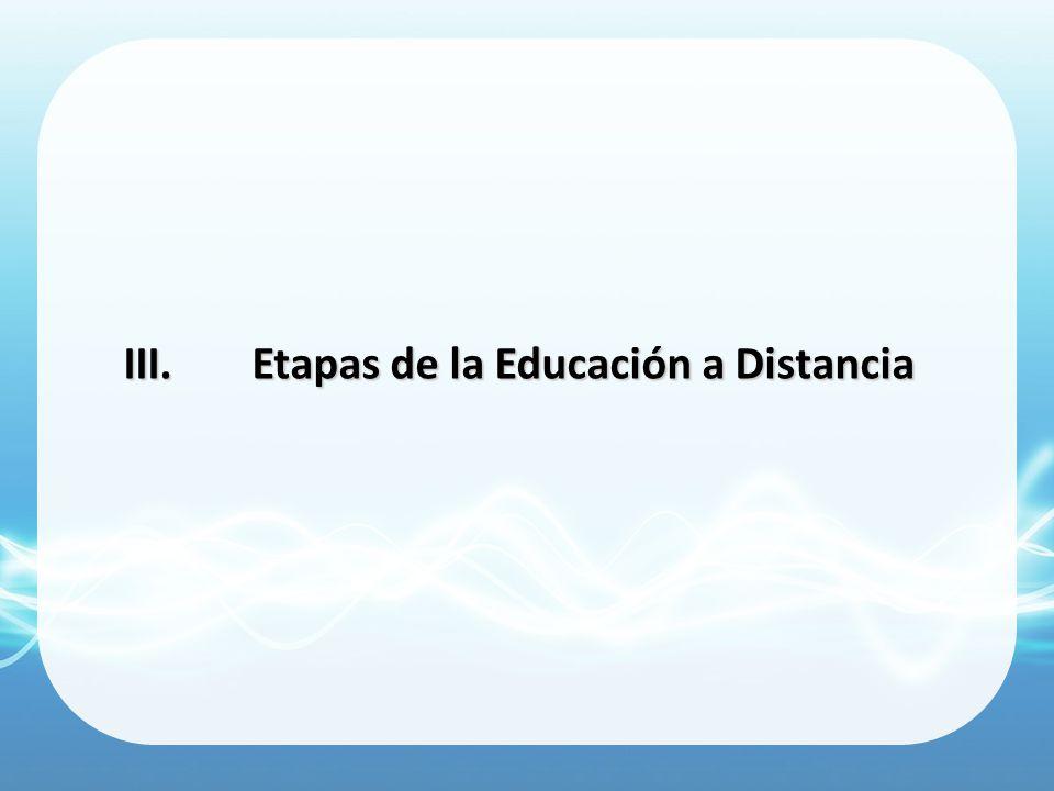 Etapas de la Educación a Distancia