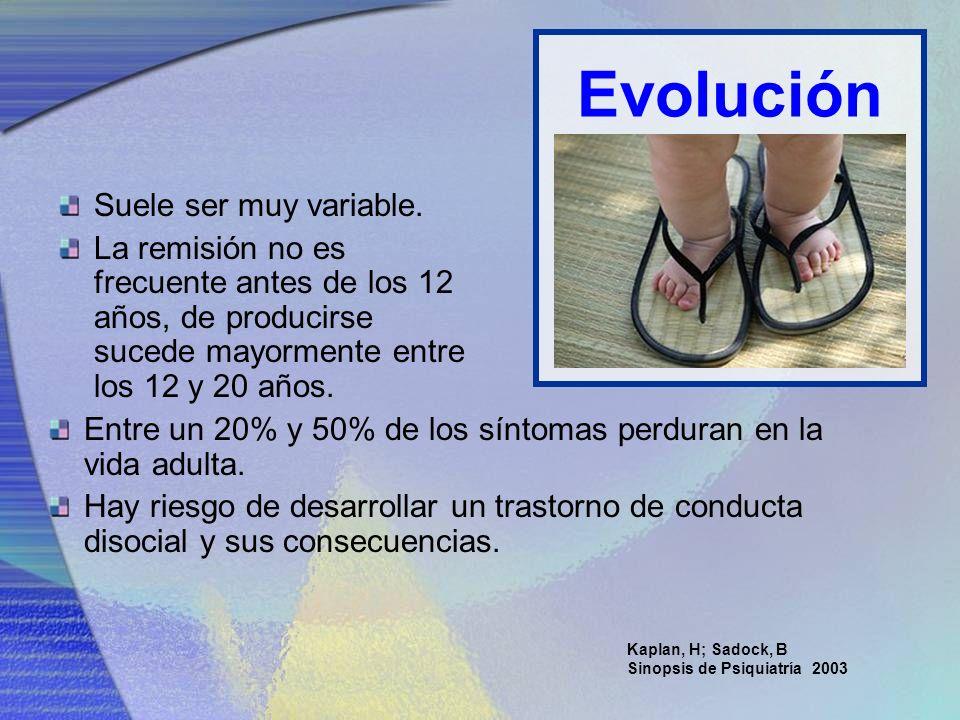Evolución Suele ser muy variable.