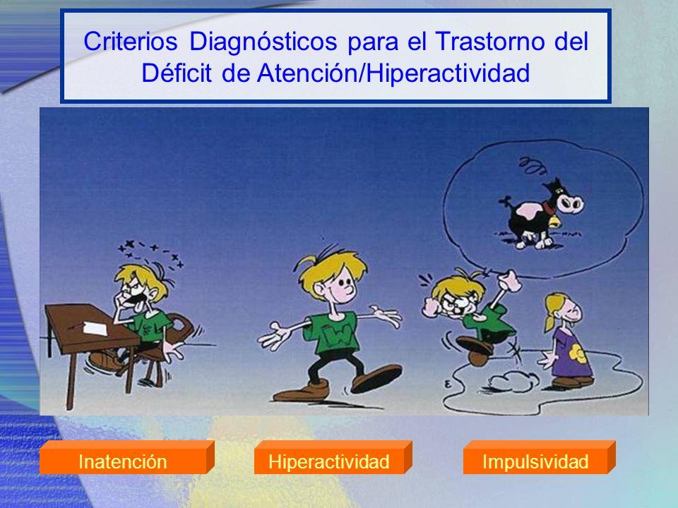 Criterios Diagnósticos para el Trastorno del Déficit de Atención/Hiperactividad