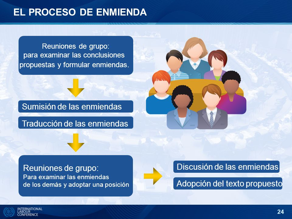 para examinar las conclusiones propuestas y formular enmiendas.