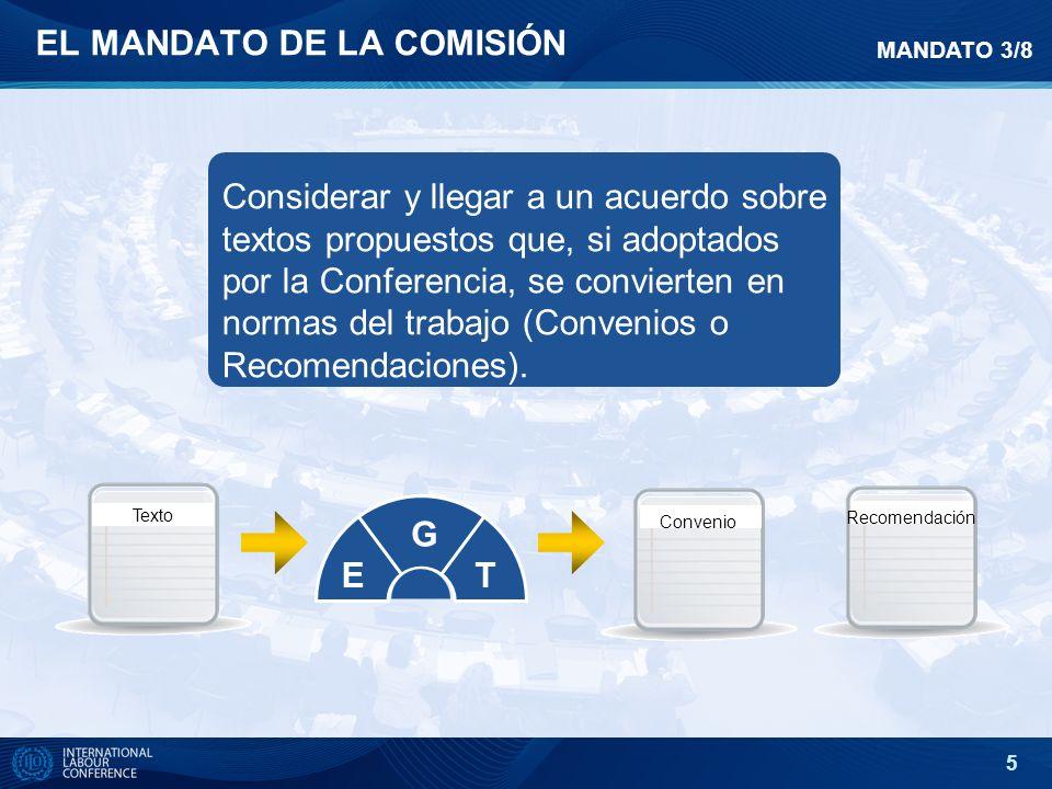 EL MANDATO DE LA COMISIÓN