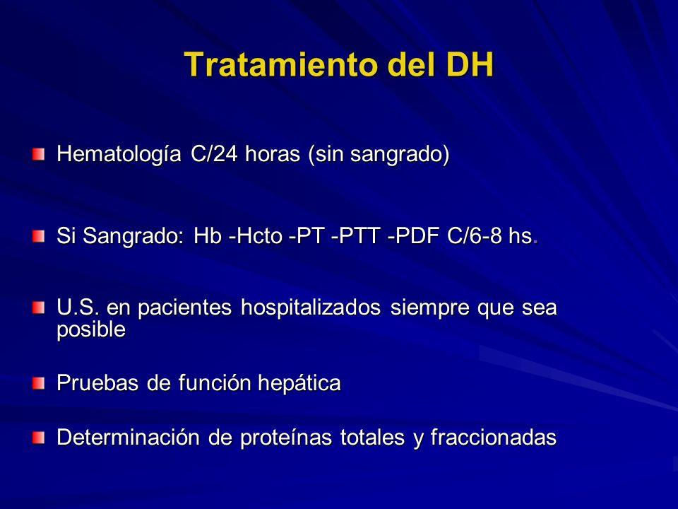 Tratamiento del DH Hematología C/24 horas (sin sangrado)