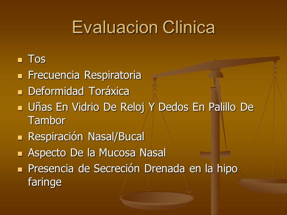 Evaluacion Clinica Tos Frecuencia Respiratoria Deformidad Toráxica