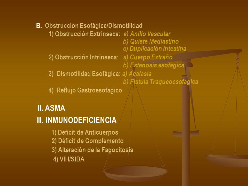 III. INMUNODEFICIENCIA 1) Déficit de Anticuerpos