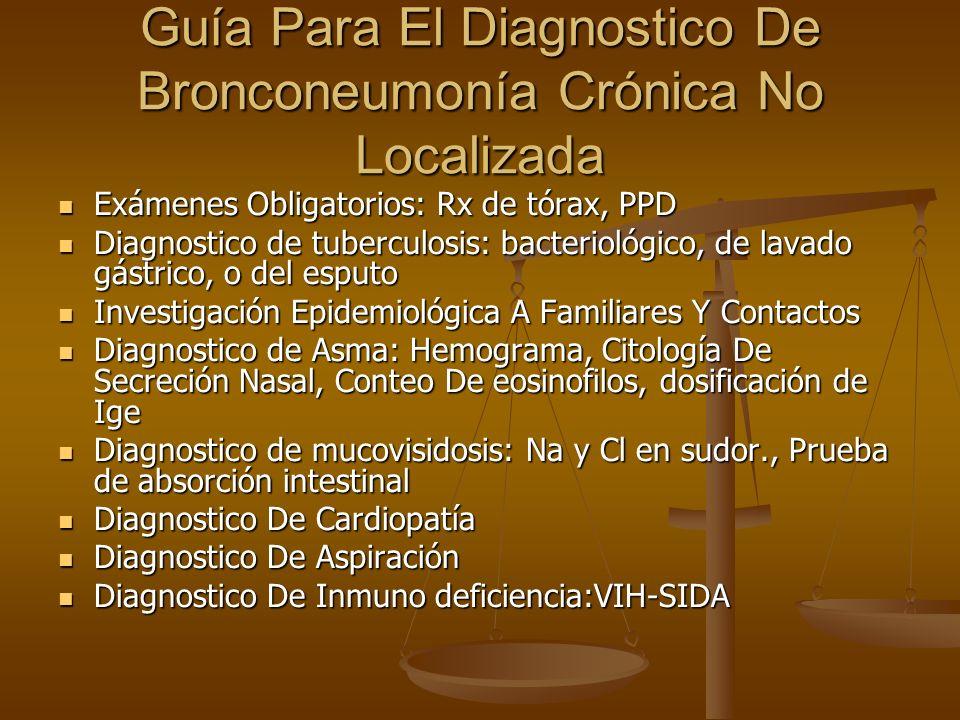 Guía Para El Diagnostico De Bronconeumonía Crónica No Localizada
