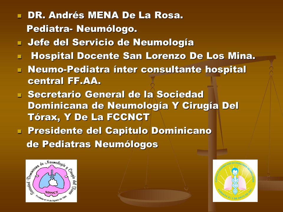 DR. Andrés MENA De La Rosa.