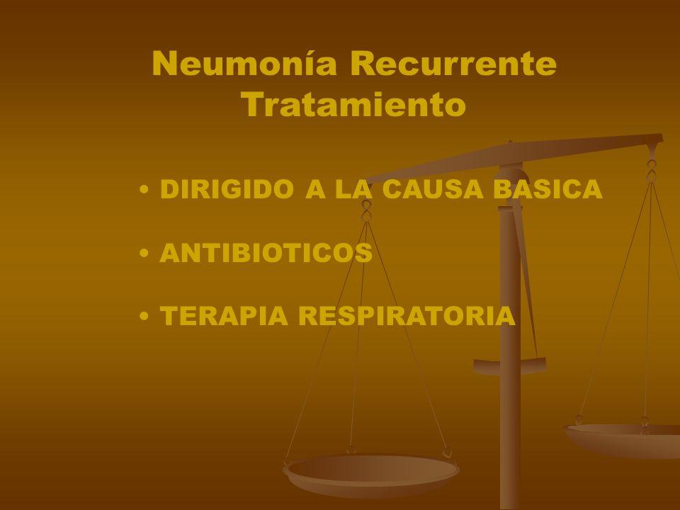 Neumonía Recurrente Tratamiento