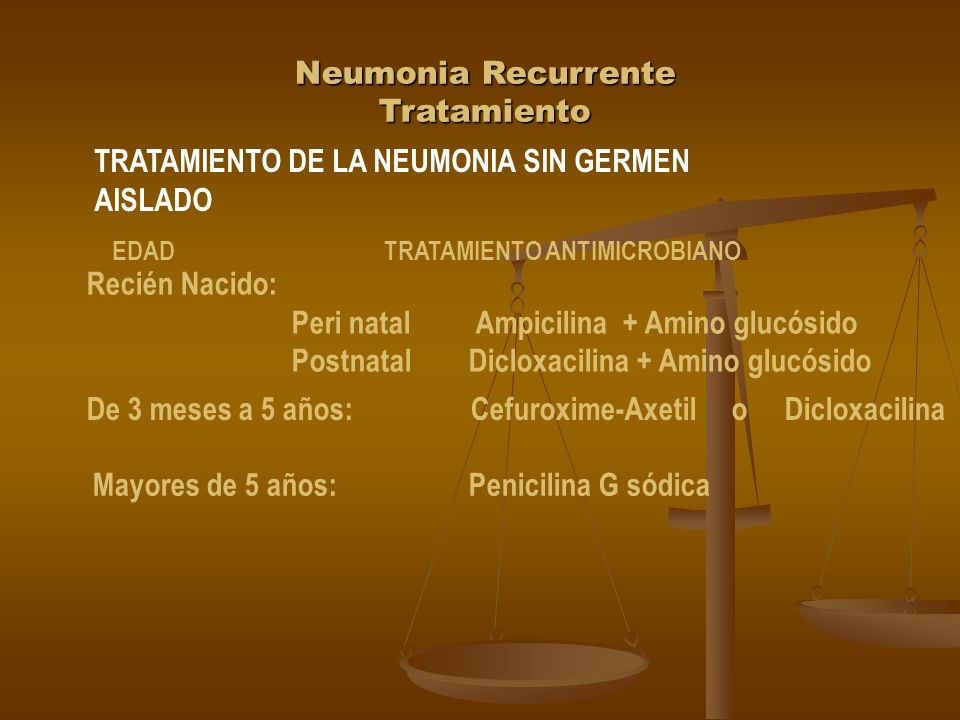 Neumonia Recurrente Tratamiento