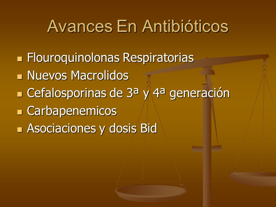 Avances En Antibióticos