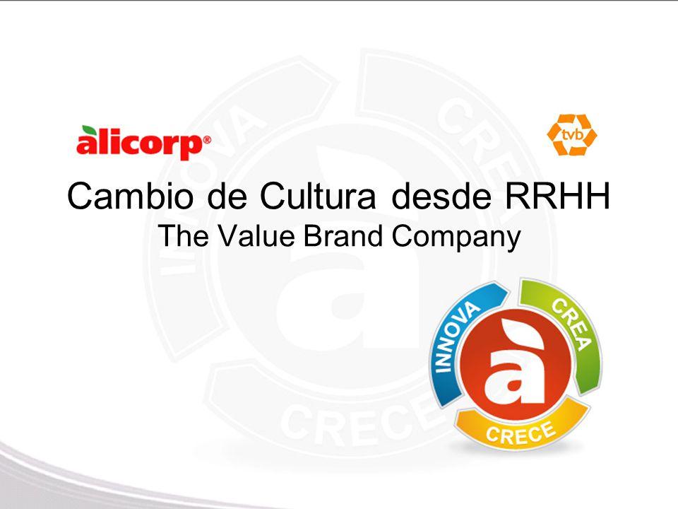 Cambio de Cultura desde RRHH The Value Brand Company