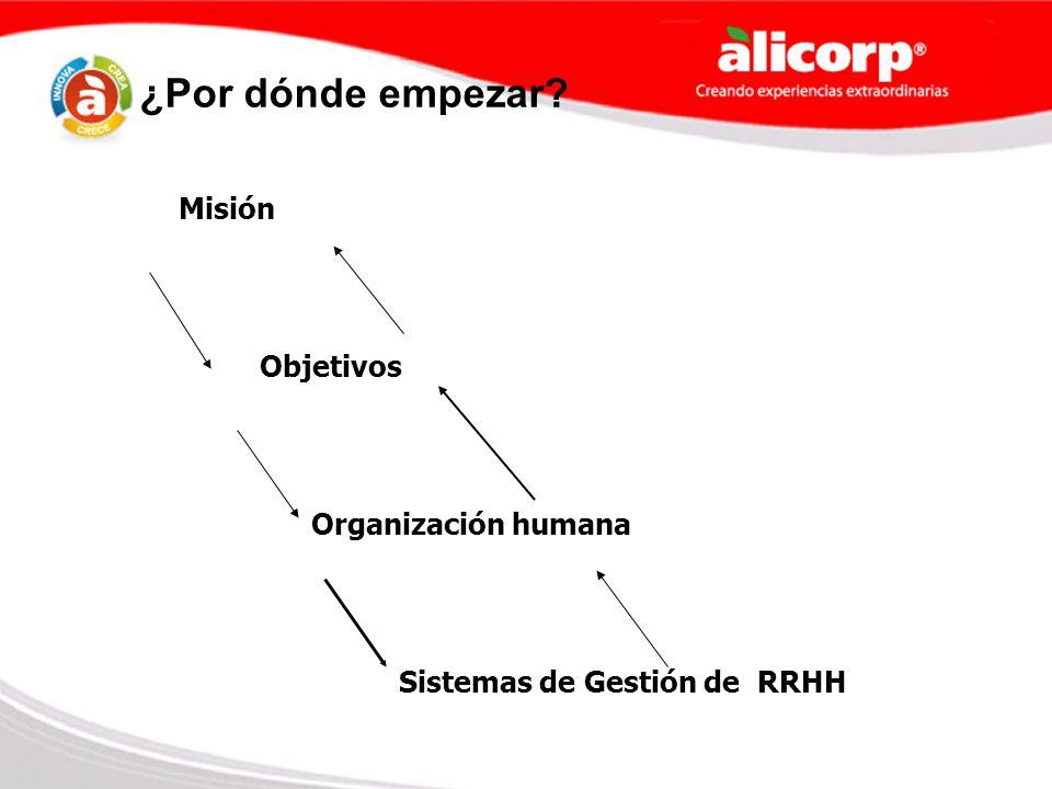 ¿Por dónde empezar Misión Objetivos Organización humana
