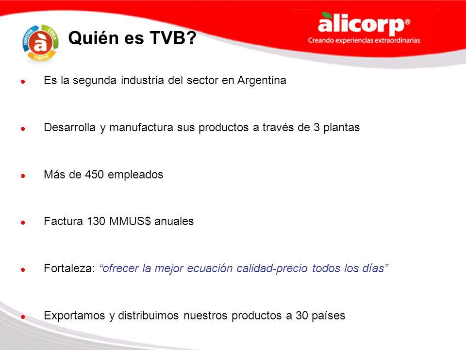 Quién es TVB Es la segunda industria del sector en Argentina