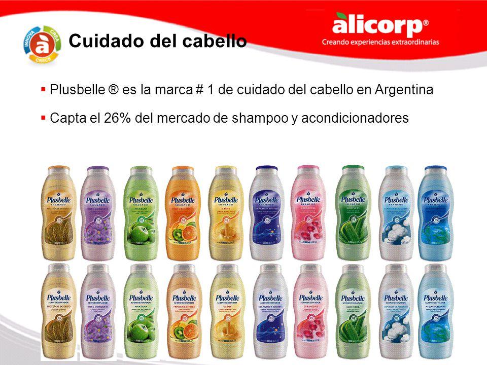 Capta el 26% del mercado de shampoo y acondicionadores