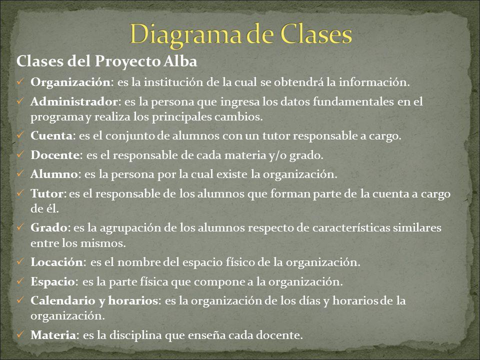 Clases del Proyecto Alba