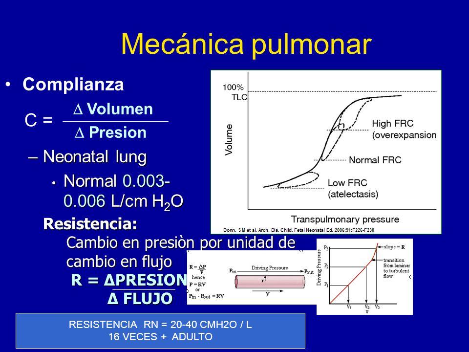 RESISTENCIA RN = 20-40 CMH2O / L