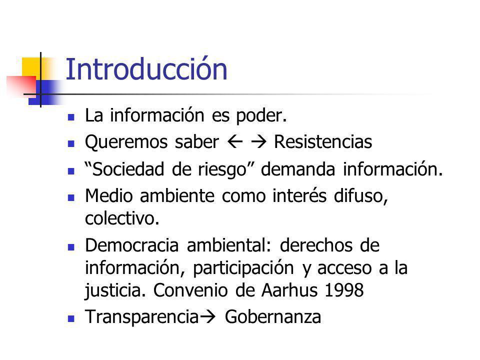 Introducción La información es poder. Queremos saber   Resistencias