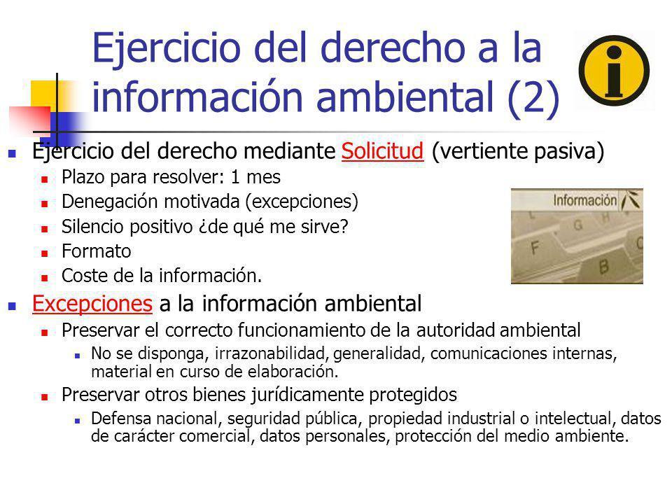 Ejercicio del derecho a la información ambiental (2)