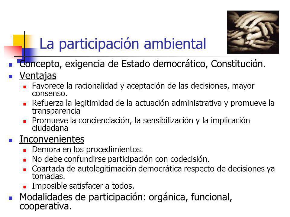 La participación ambiental