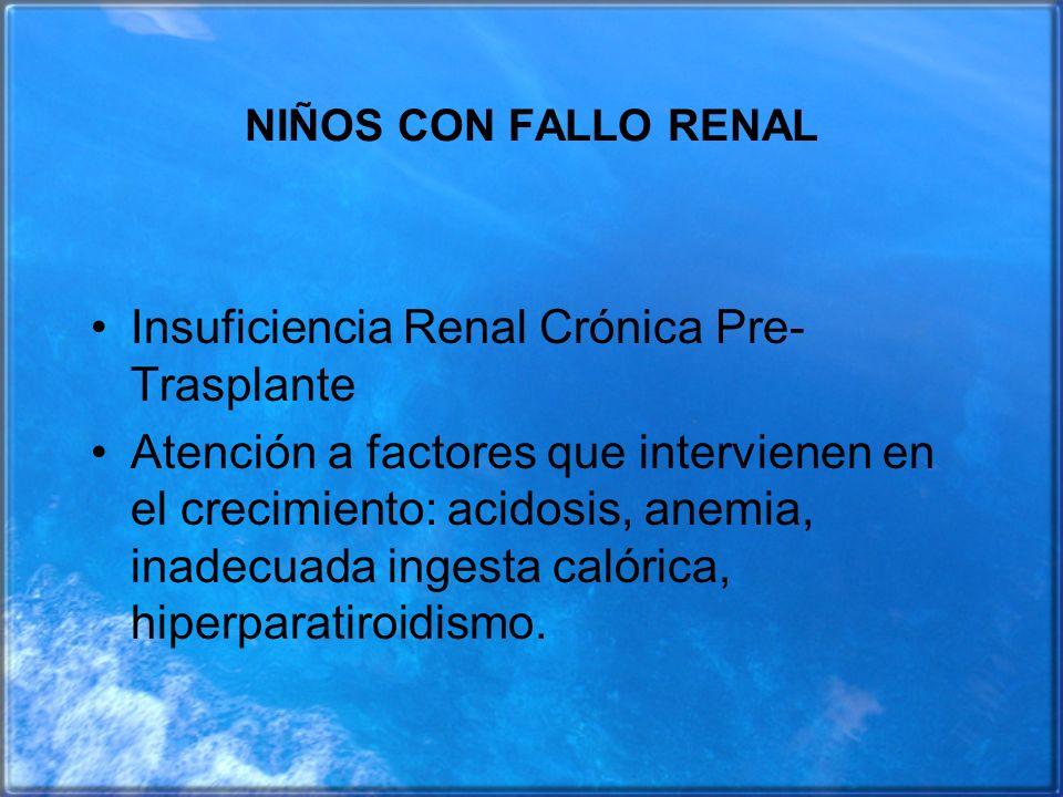 Insuficiencia Renal Crónica Pre-Trasplante