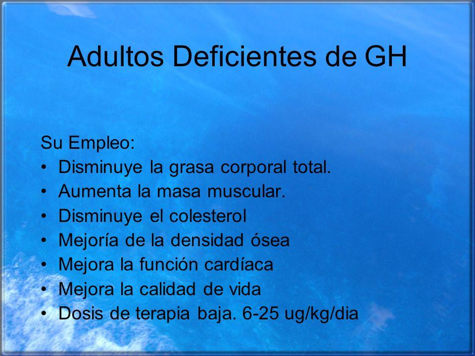 Adultos Deficientes de GH