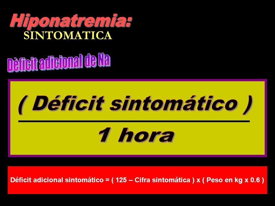 ( Déficit sintomático )