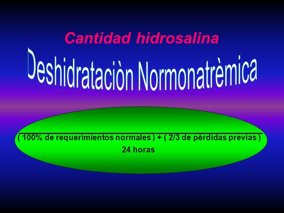 Deshidrataciòn Normonatrèmica