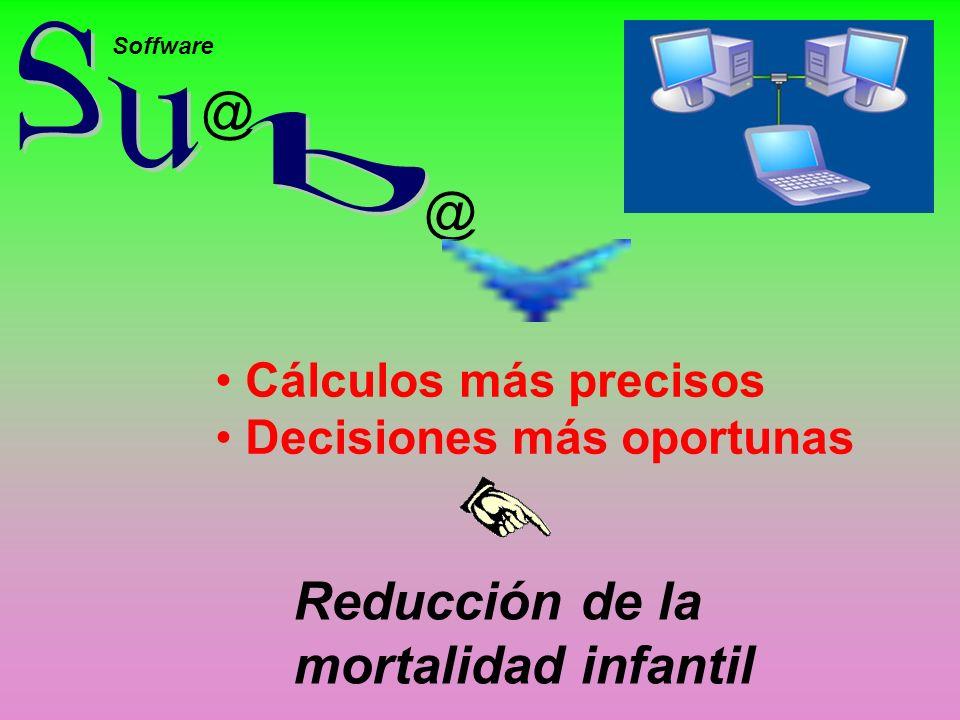 Su b @ @ Reducción de la mortalidad infantil Cálculos más precisos