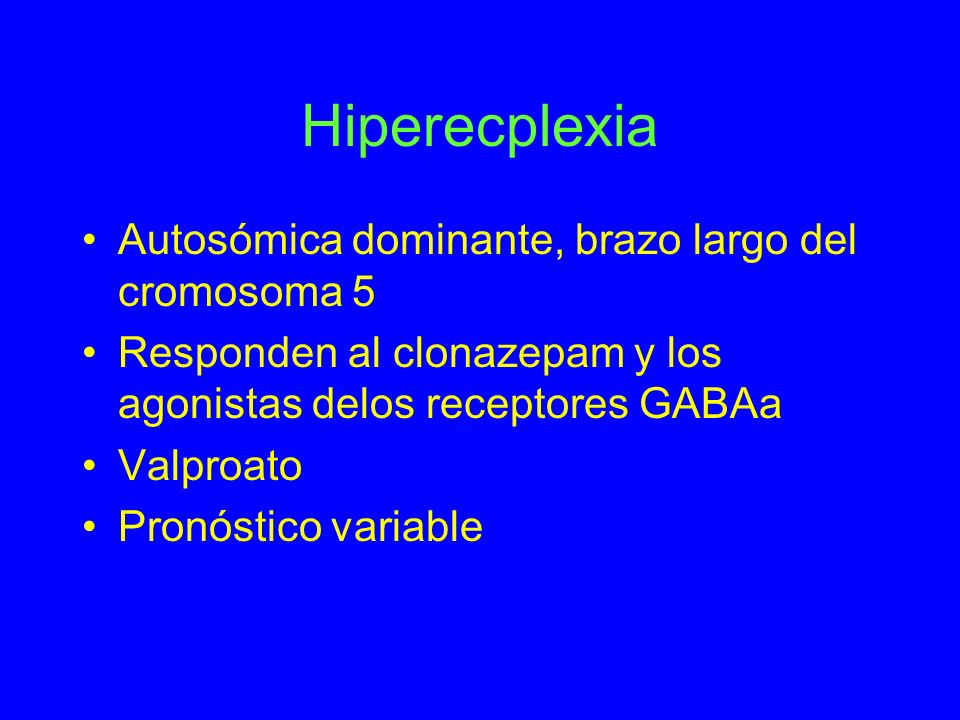 Hiperecplexia Autosómica dominante, brazo largo del cromosoma 5