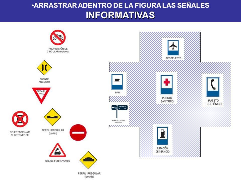 ARRASTRAR ADENTRO DE LA FIGURA LAS SEÑALES INFORMATIVAS