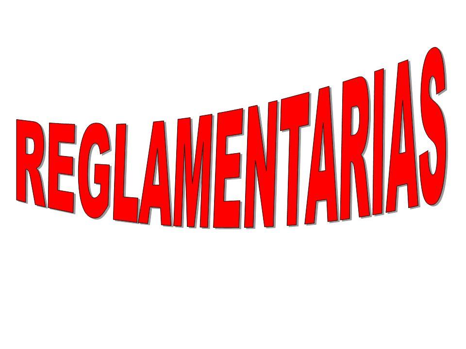 REGLAMENTARIAS