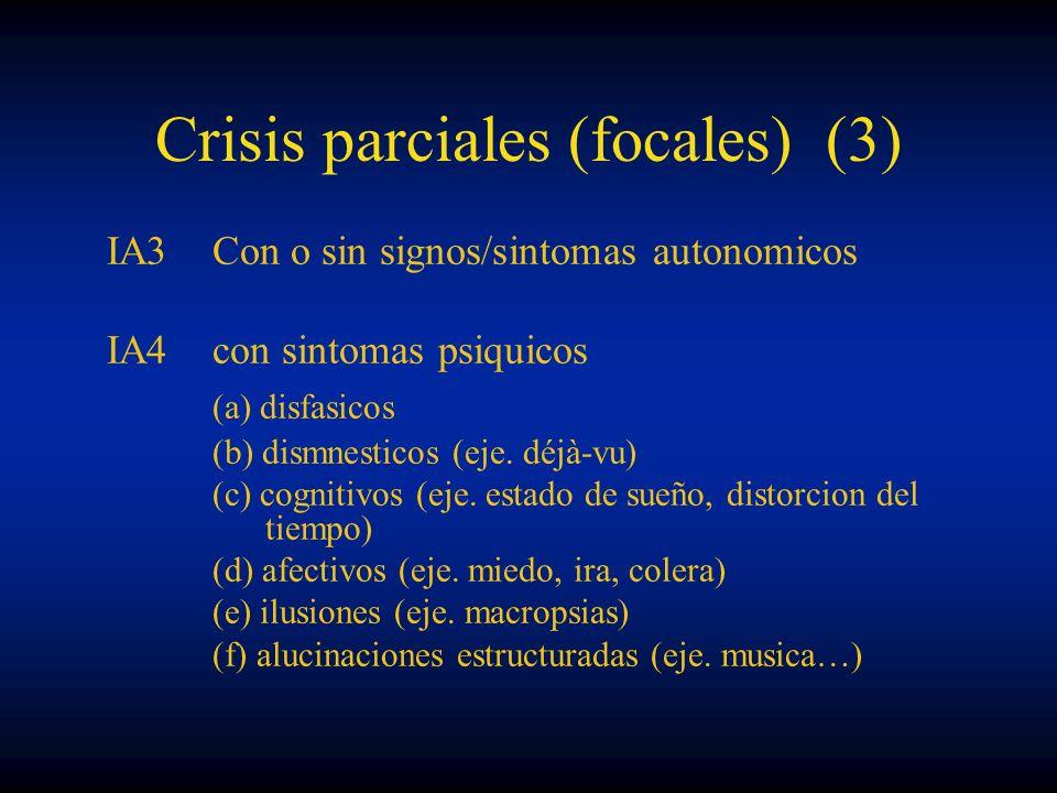 Crisis parciales (focales) (3)