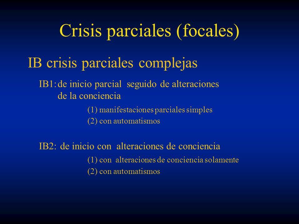 Crisis parciales (focales)