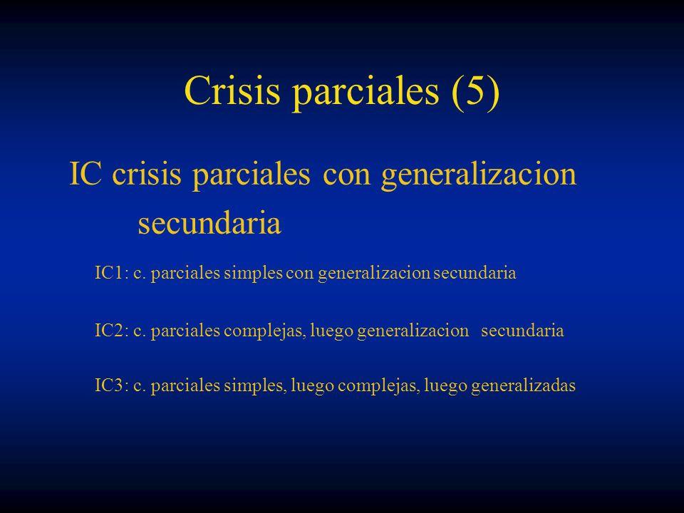 Crisis parciales (5) IC crisis parciales con generalizacion secundaria